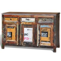 Vimeu-Outillage - Cabinet vintage Multicolore 3 tiroirs 3 portes