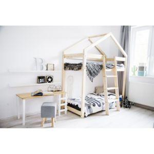 monlitcabane lit superpos cabane bois massif sommiers 80x180 bois naturel 180cm x 80cm. Black Bedroom Furniture Sets. Home Design Ideas