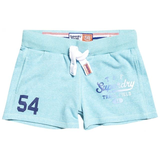 Superdry Short Track & Field Lite Lolly Teal Snowy Bleu