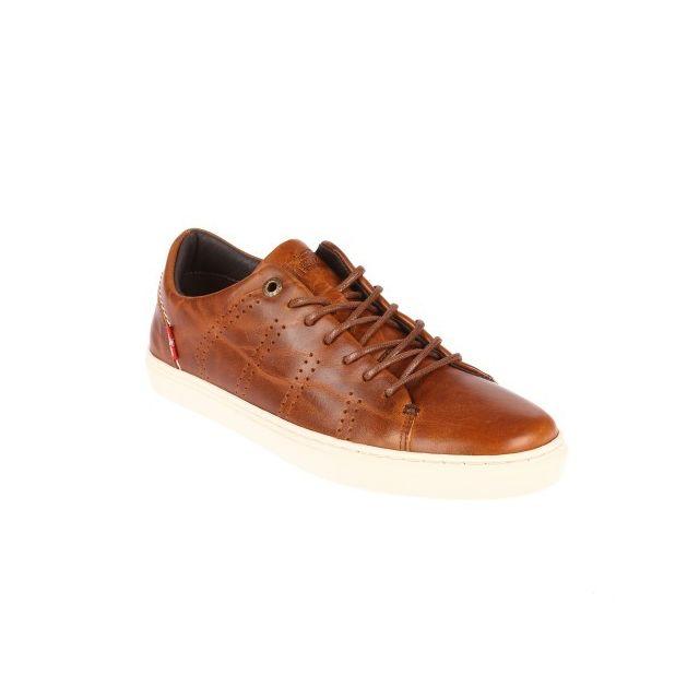 Levi'S Baskets Vernon en cuir lisse marron aspect vieilli