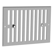 Anjos Ventilation - Grille D'AERATION Aluminium Obturable - Blanc - Larg. mm:190 - Haut. mm:75 - Passage d'air cm²:0/35