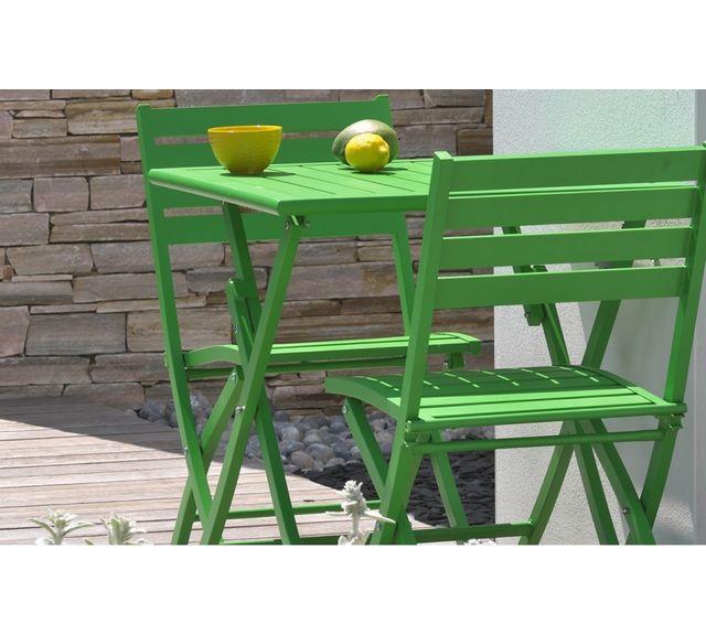 Dcb Garden Guéridon pliant en aluminium vert prairie