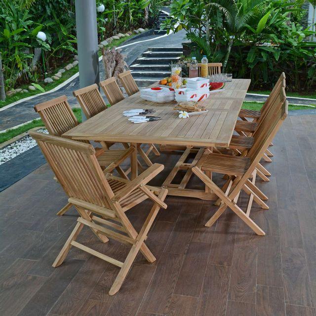 Table De Jardin En Teck Pas Cher. Trendy Chaise Jardin Teck Chaise ...