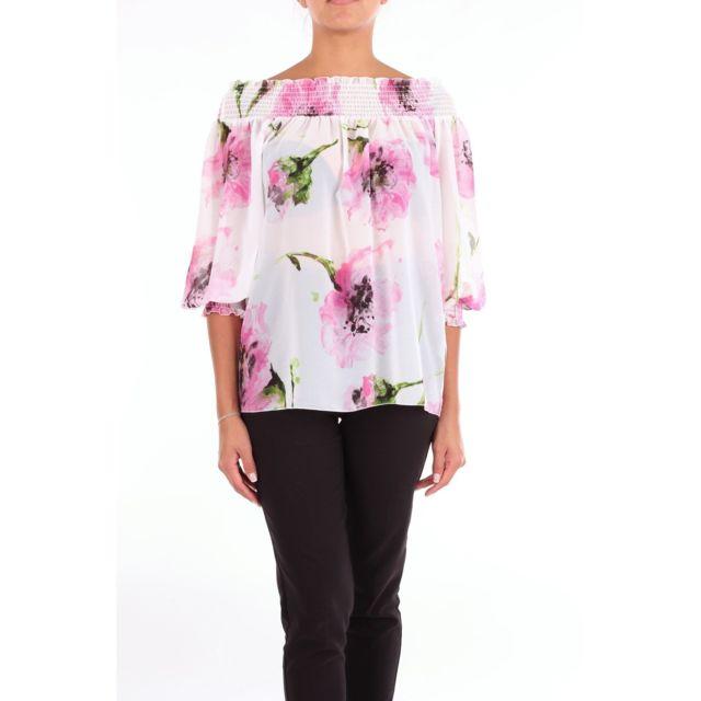 BLUGIRL Femme 7566WHITEROSE Rose Polyester Blouse
