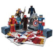 Jazwares - Avengers Marvel Set Papercraft Hydra Battle Heroes Pack