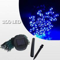 Sellande - Guirlande Solaire Bleue 100 Leds