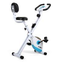 KLARFIT - X-Bike 700 Vélo d'appartement ergomètre pulsomètre pliable -bleu/blanc