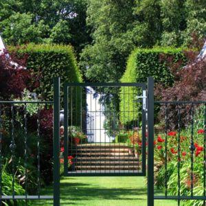 rocambolesk superbe portillon de jardin avec serrure maille m tallique 150 x 103 cm ggd250g. Black Bedroom Furniture Sets. Home Design Ideas