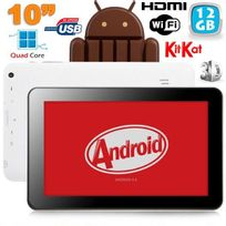 Yonis - Tablette 10 pouces tactile capacitif Android 4.4 KitKat Hdmi 3D 12 Go