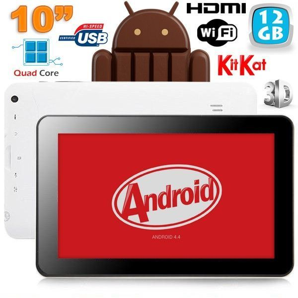 Yonis Tablette 10 pouces tactile capacitif Android 4.4 KitKat Hdmi 3D 12 Go