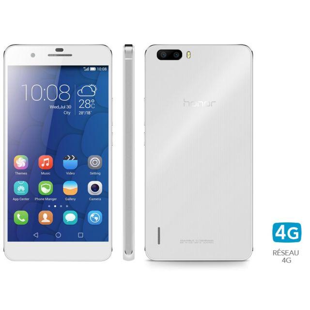honor 6 plus blanc pas cher achat vente smartphone classique android rueducommerce. Black Bedroom Furniture Sets. Home Design Ideas