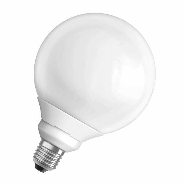 Osram - Ampoule fluocompacte globe 17W=75W culot E27 blanc chaud Dulux Superstar
