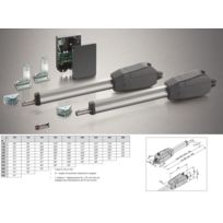 Sommer - Kit motorisation de portail 2 battants environ 3,5m, twist 350