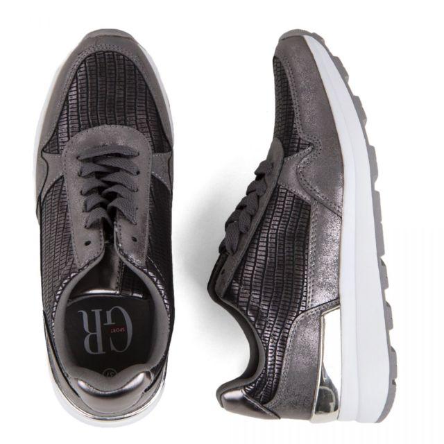 Georges Rech Femme Sneakers Grises Baskets Pas Arsoncat Cher 3jL4R5A