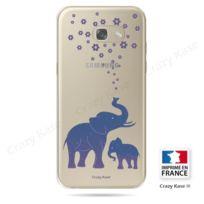 Crazy Kase - Coque Galaxy A5 2017, Transparente et souple motif Eléphant Bleu