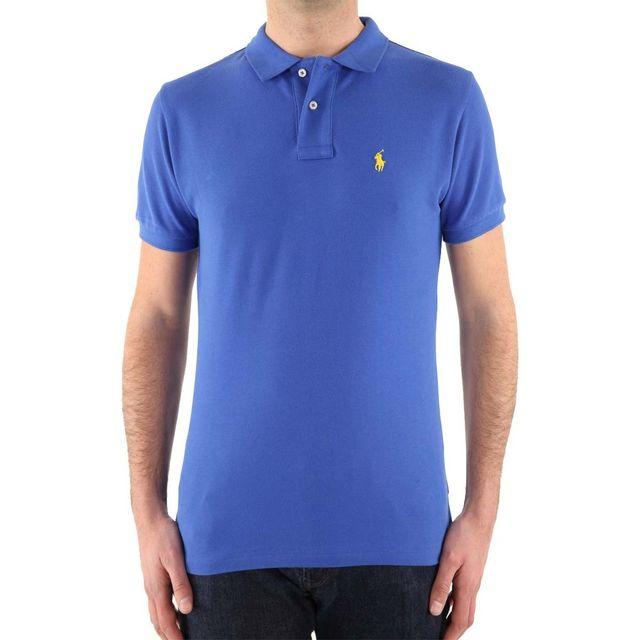 1ac57612e15a7 Ralph Lauren - Polo Custom Fit Couleur - Bleu