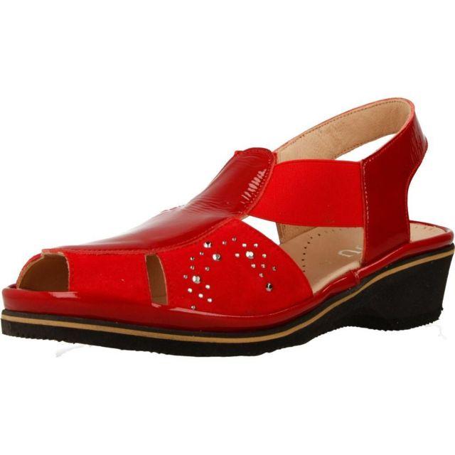 Plaju Mocassins et chaussures bateau femme 70996, Rouge