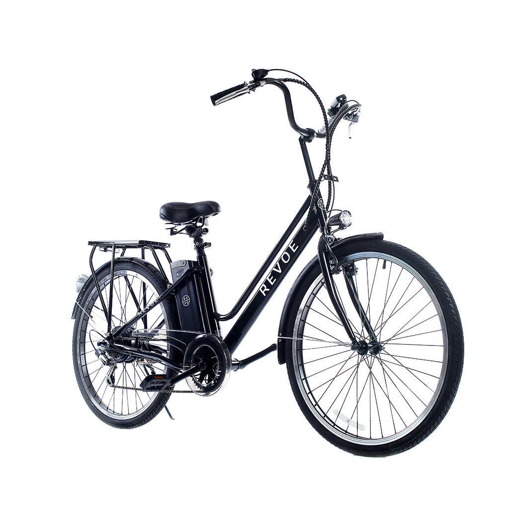 Vélo électrique de ville pour adulte - Noir - REVTRO28