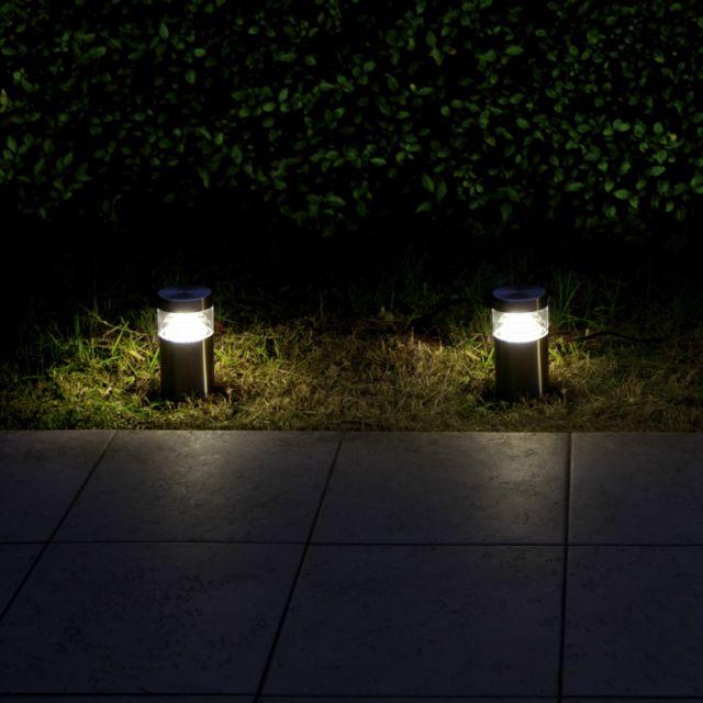 Lumihome trio kit de bornes duextrieur planter led alu hcm for Par led exterieur