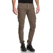 Sixth June - Jogger pant cargo homme sable skinny