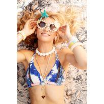 Maaji - Haut de Bikini noué dos Bleu Multicolore - Once Upon A Pool