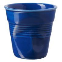 Revol - Gobelet en porcelaine Froisses - Bleu - 18cl