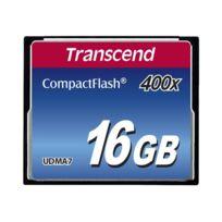 Transcend - Carte mémoire compactFlash capacité 16 Go vitesse 400x