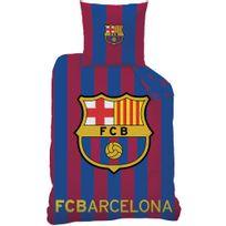Fc Barcelone - Housse de couette Fc Barcelona 140x200 + taie 63x63 enfant 100% coton