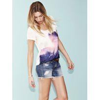 Only - T-shirt Grunge Violet