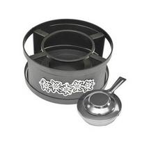 SCHWARZ - réchaud à fondue en acier 21cm noir - 645804