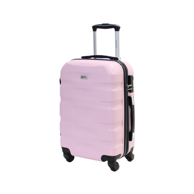 """Alistair - Valise cabine 55cm - """"Fly"""" - Abs Ultra Légère - 4 Roues Rose Clair 46"""