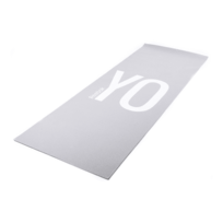 Reebok - Tapis de yoga Double Sided Yoga 4 mm gris