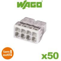 Wago - Pot de 50 mini bornes 8 fils S2273