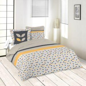 soldes sans marque parure 4 pi ces drap housse drap plat 2 taies pepa multicolor nc. Black Bedroom Furniture Sets. Home Design Ideas