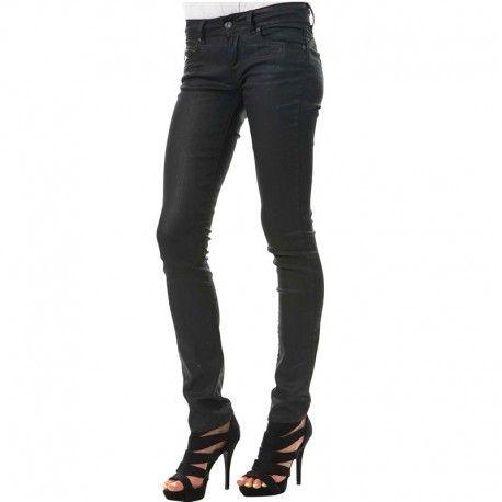f491d03c2a81e Pepe Jeans - Jean Enduit Slim New Brooke Longueur 34 Gris Femme Pépé Jeans