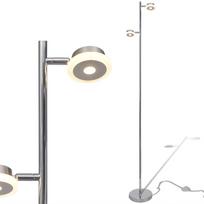 Rocambolesk - Superbe Lampadaire réglable à 2 bras avec Led intégré 2 x 5 W neuf