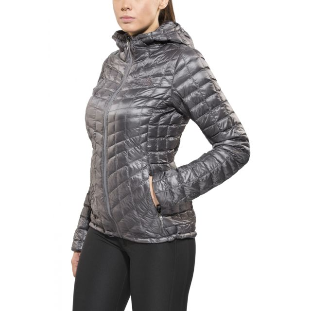 The north face ThermoBall Veste Femme gris pas cher