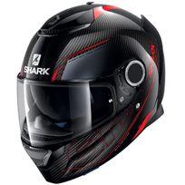 Shark - casque moto intégral en Carbone Spartan Carbon Silicium Dra noir gris rouge brillant 2XL