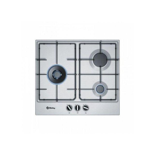 énorme réduction 2adb0 3e3a9 Plaque au gaz 3ETX663MN 60 cm Acier inoxydable 3 cuisinière