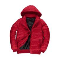 46b70fbac Doudoune rouge capuche amovible - catalogue 2019 - [RueDuCommerce ...