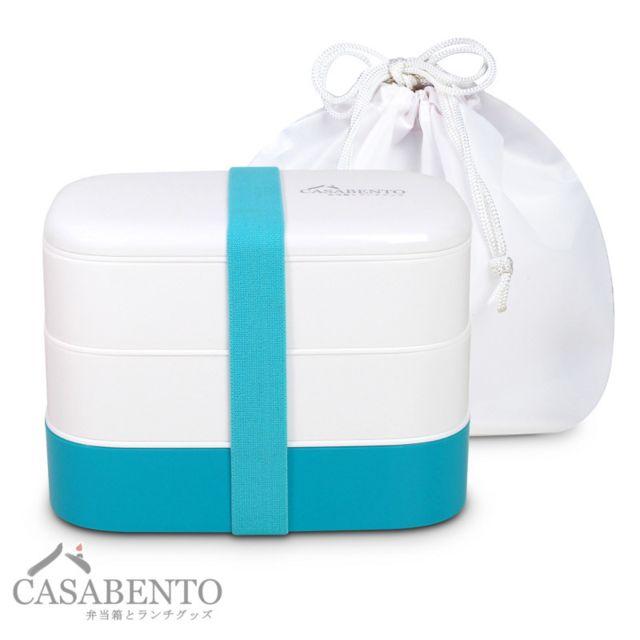 Casabento Boîte Bento Light Menthe + Sac