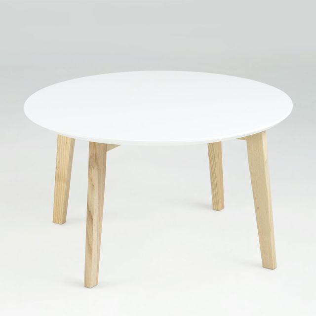 Générique Table Basse Ronde Lemon Blanc 80 cm