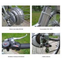 Vélo électrique adulte grande autonomie Vae 25 km/h Noir