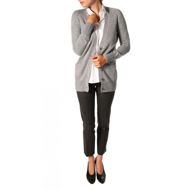 28145466d161 Bruce Field - Ce Gilet femme boutonné en laine et cachemire - 5321 - pas  cher Achat   Vente Gilet femme - RueDuCommerce
