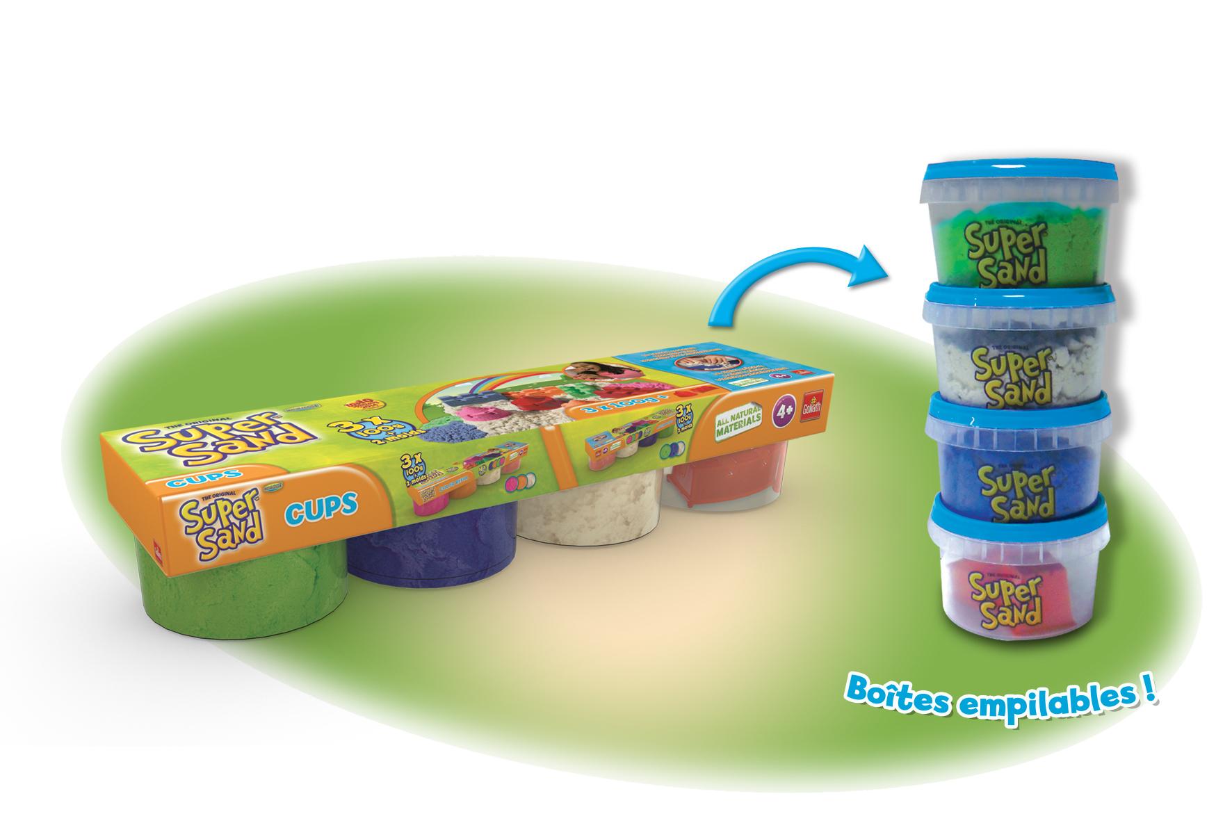 Super Sand 4 Cups bleu, vert 83222.006