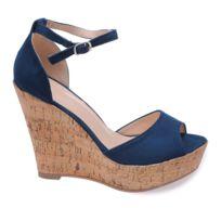 2019rueducommerce Catalogue Compensees Bleu Chaussures Compensees Chaussures WH29EDI