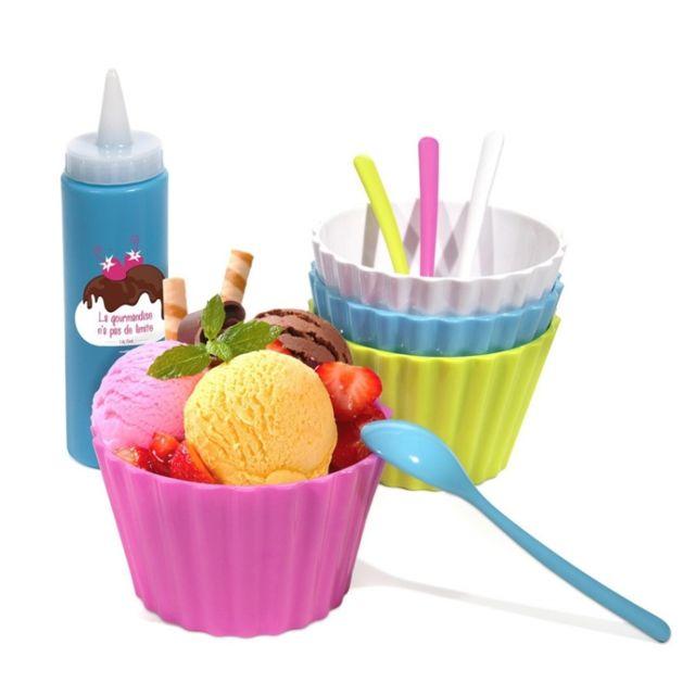 Coffret glaces gourmandes - Ensemble à glace complet avec recettes