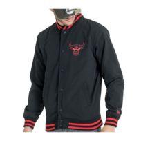 Détails sur Veste Nba Chicago Bulls Core Jersey Varsity New Era Noir Homme
