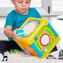 Marque Generique - Cube d'éveil et d'activités pour bébés avec son et lumière intégrés - Jeu d'éveil enfant