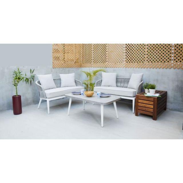 Fauteuil Salon Canapés Ensemble Chaise Places De Et Table 2 Jardin Aluminium En Corde Nala 4 srChxQtd